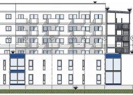 So wird der künftige Anbau am Seniorenheim der GSW aussehen. Visualisierung: Ingenieurbüro Weber, Darlingerode