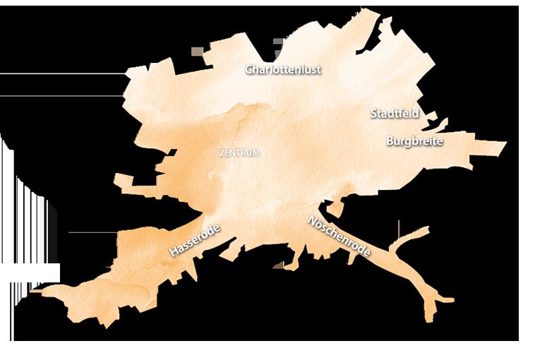 Übersichskarte GSW Wernigerode